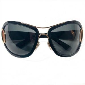GUCCI GG2930/S Oversized Black and Gold Sunglasses